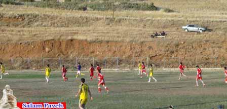 پایان مرحله یک چهارم نهایی مسابقات فوتبال پاوه
