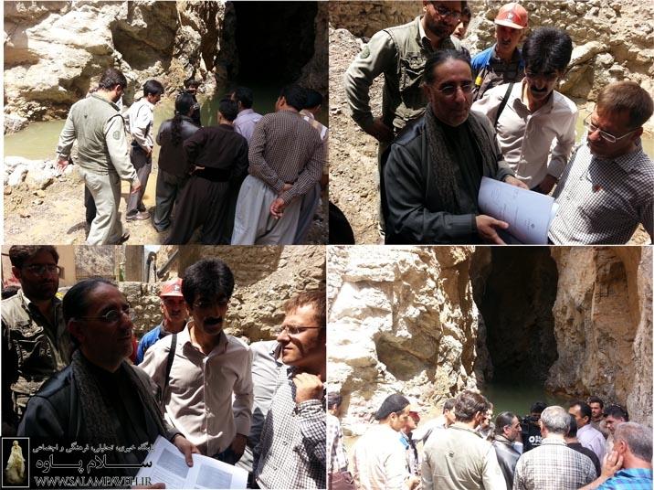 عملیات تخریب چشمه بل متوقف شد + عکس