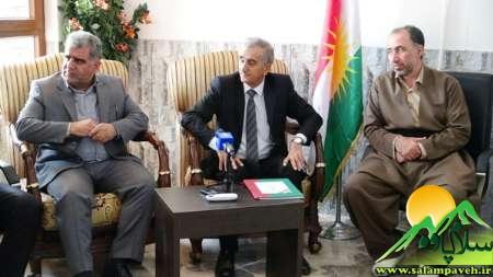 خبر رسمی از سفر یک روزه نماینده و فرماندار پاوه به حلبچه عراق
