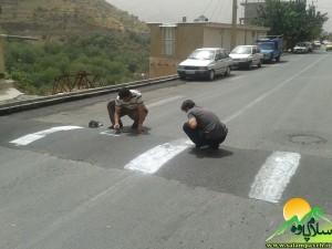 سرعت گیر خیابان امام شافعی