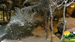 برف پاییزی در پاوه