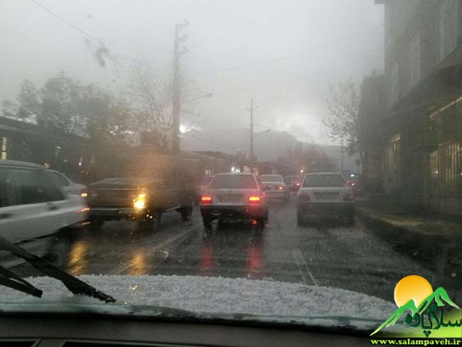 بارش باران در پاوه