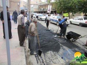 فعالیت های عمرانی شهرداری پاوه