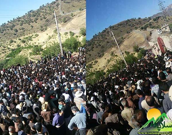 وضعیت نابسامان مرز کولبری پاوه؛ ازدحام کولبران در پشت دروازهها معضل جدید بازارچه مرزی شوشمی --- © عکس: سلام پاوه