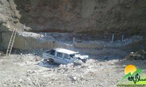 سقوط ماشین در پاوه