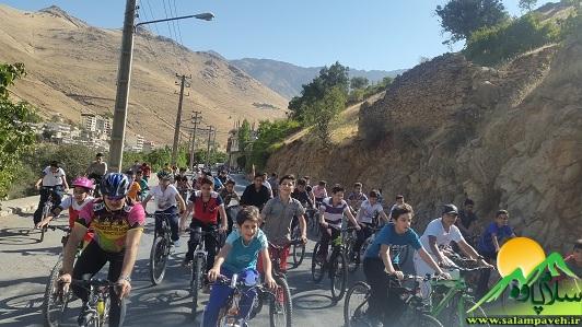 همایش دوچرخه سواری در پاوه