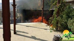 آتش سوزی در پاوه