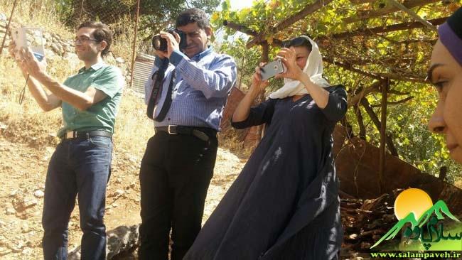 بازدید گردشگران از اکو کمپ ساتیاری
