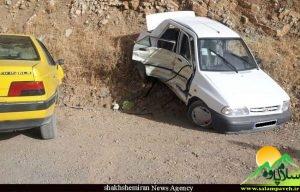 تصادف پراید با خودروی مسیری