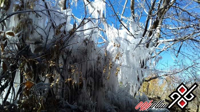 بلور یخ روستای نسمه