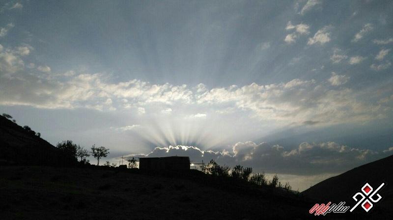 غروب زیبای پاوه ، سراب هولی ، عکس: یوسف قادریان