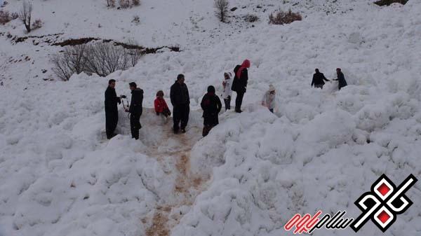 خلق مناظر زیبا پس از سقوط بهمن در پاوه / گزارش تصویری
