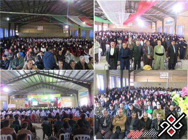 جشن بزرگ انقلاب در شهر نوسود برگزار شد/ عکس