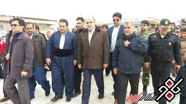 تشریح مشکلات شهر بانه وره در حضور استاندار کرمانشاه توسط رزگار میرانی
