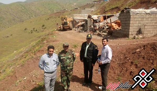 دستگیری و خلع ید متعرضان ۴ هکتار از اراضی منابع ملی در پاوه