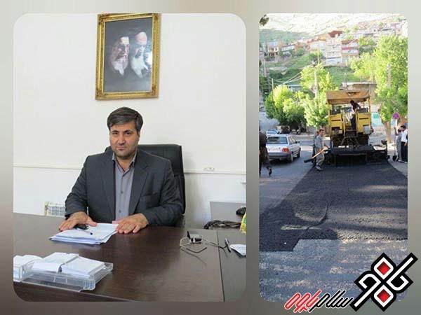 از سرگیری آسفالت معابر سطح شهر پاوه در هفته جاری/حجم آسفالت انجام شده در پاوه معادل کل آسفالت انجام شده در سطح استان است