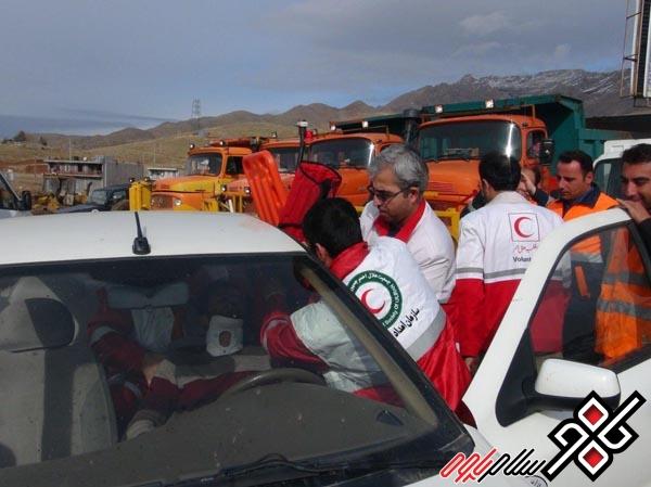 مانور امداد و نجات جاده ای در شهرستان پاوه برگزار شد/ عکس