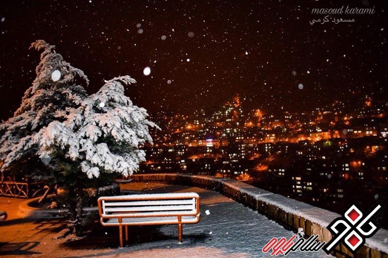 شب برفی 96 پاوه
