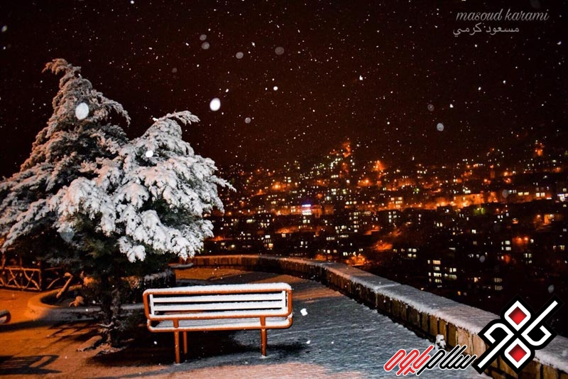 تصاویری دیدنی از شب برفی پاوه از دریچه دوربین مسعود کرمی