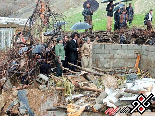 ریزش کوه در روستای بیوندسفلی جوانرود حادثه آفرید