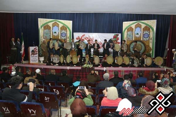 سومین جشنواره استانی مولودی خوانی در پاوه برگزار شد/ گزارش تصویری