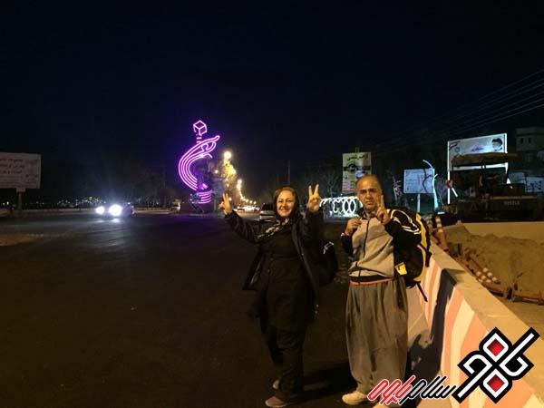 پس از چهار روز پیاده روی خانواده رحمان زاده غروب امروز وارد مریوان شدند/ عکس