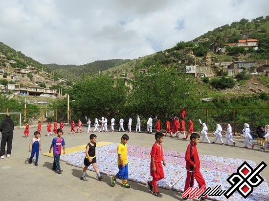 برگزاری اختتامیه المپیاد ورزشی درون مدرسه ای در روستای مرزی هانی گرمله/گزارش تصویری