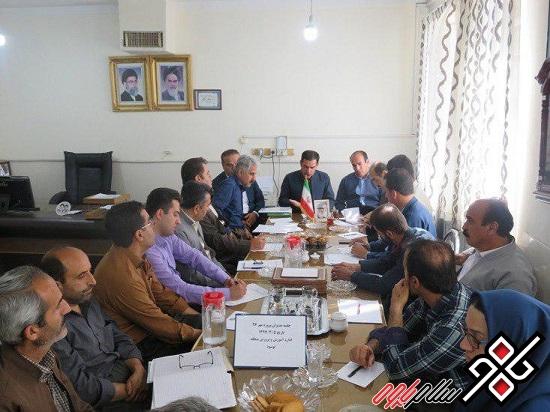 برگزاری نشست ستاد نظارت بر ثبت نام دانش آموزان منطقه نوسود(پروژه مهر ۹۷)