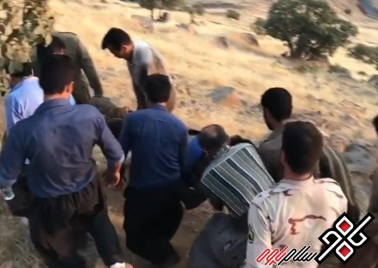 مجروح شدن یک شهروند شهرستان پاوه بر اثر انفجار مین/ عکس